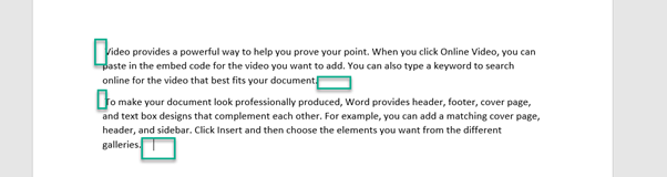 Removing Leading & Trailing spaces in Word