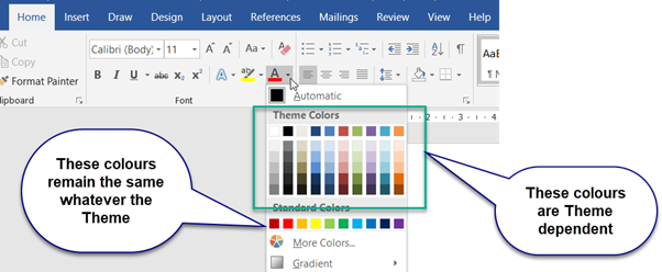 Customising Word's Themes to match corporate colours