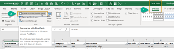 Analysing data with Excel Pivot Tables
